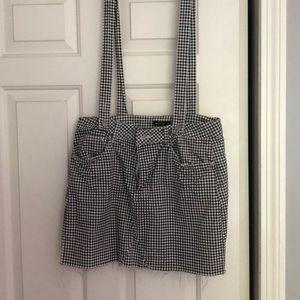 Gingham Overall Skirt